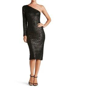Black Sequin Dress- Dress the Population